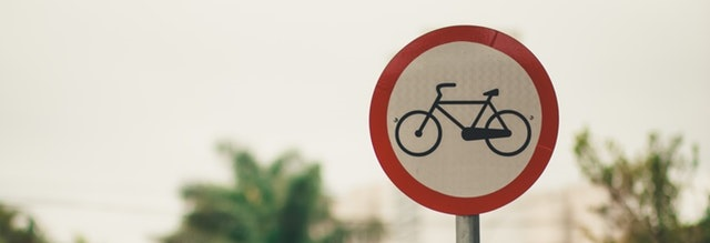 bicycles prohibited traffic sign